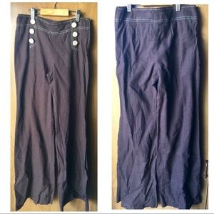 Forever 21| Women's Linen Chocolate Pants Sz S